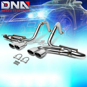 For 97 04 Corvette C5 z06 Quad 4 25 Oval Tip Stainless Exhaust Catback System