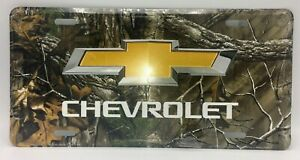 Chevy Chevrolet Logo Camo Car Truck Tag License Plate Gm Realtree Metal Sign