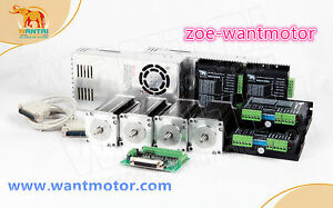 Free To Eu wantai Cnc Kit 4axis Nema23 Motor 425oz in Single Shaft 4 2a