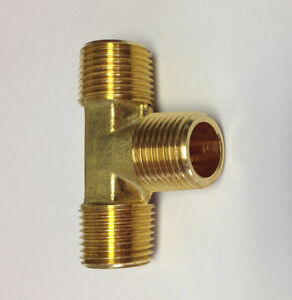Brass Fittings Brass Male Tee Male Pipe 1 2 Qty 25