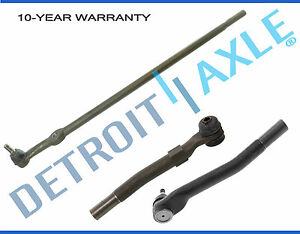 3pc Drag Link And Outer Tie Rod End Links For Ford F 250 F 350 Super Duty 4wd