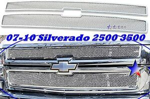 2009 09 2008 07 10 2010 Chevy Silverado 2500 3500 Hd Stainless Steel Mesh Grille