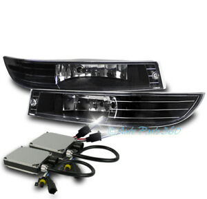For 00 05 Chevy Impala Bumper Driving Fog Lights Lamps Chrome W 8k Xenon Hid Kit