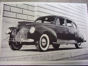 1940 Lincoln 4dr Sedan 12 X 18 Large Picture Photo