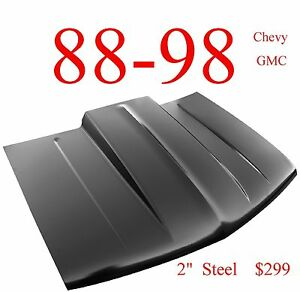 No Shipping 88 98 Cowl Hood 2 Chevy Truck Steel Bolt On Keypart 0852 035