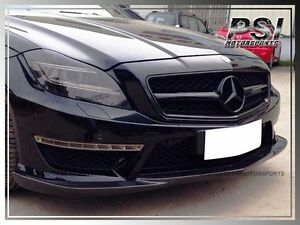 Godhand Style Carbon Fiber Front Bumper Lip For 2011 Benz W218 Cls63 Amg