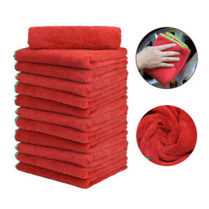 12x Microfiber Towel Elite Deluxe Car Wash Polish House Cleaning Cloths 16 x24