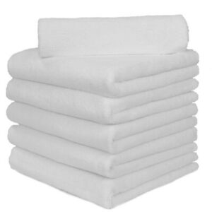 6 Pcs Microfiber Towel Edgeless No Scratch Cleaning Clothes 16 x16 White