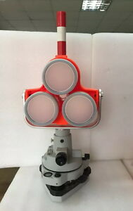 New Red Triple Prism Tribrach Set System F Topcon sokkia Total Station Surveying