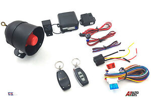 Remote Car Alarm Locking Immobiliser System Keyless Entry 2 Fobs 3 Button