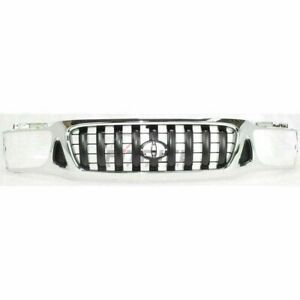 New Grille Chrome Black For 2001 2004 Toyota Tacoma To1200248