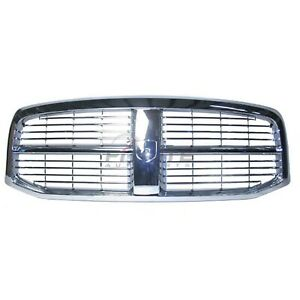 Ch1200281 For 2006 2009 Dodge Ram 2500 Front Grille All Chrome