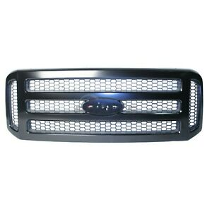 New Front Grille Chrome Black Fo1200457 Fits 2005 2007 Ford F 250 Super Duty