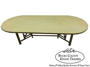 Mcguire Large Rattan Bamboo Dining Table