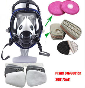 Hot 15 In 1 Suit Painting Spraying Gas Mask Full Face Facepiece Respirator