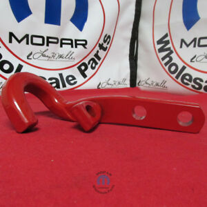 Jeep Wrangler Red Rear Tow Hook Driver Side Left New Oem Mopar