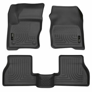 Husky Weatherbeater Front 2nd Seat Floor Liners Black For Ford Focus 2012 2015