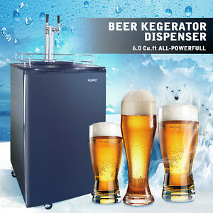 Full Size Kegerator draft Beer Dispenser Cooling Refrigerator Dual tap 6 0 Cu Ft