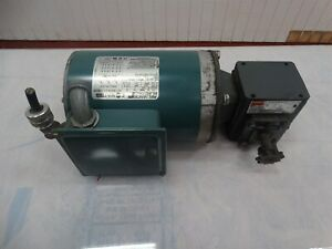 Reliance Electric Motor P56x1337g 3 4hp 230 460v 2 2 1 1a W dayton Reducer 5 1 1