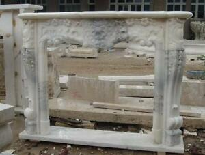 Beautiful French Design Marble Fireplace Mantel 3971