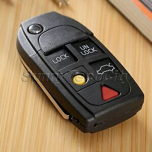Replace 5 Buttons Car Key Remote Flip Case Shell Fob For Volvo S60 S80 2000 2006