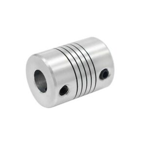 Aluminum Flexible Shaft Coupler 5 6 35 8mm To 5 6 35 8 10mm Cnc Reprap 3dprinter