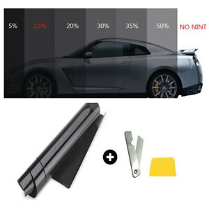 New Style 50cm 3m 15 Vlt Black Pro Car Home Glass Window Tint Tinting Film Roll