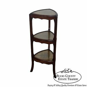 Quality 3 Tier Regency Style Eglomise Etagere Stand