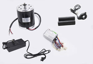 500 W 24 V Electric Brush Motor Kit W Speed Control Box Thumb Throttle Charger