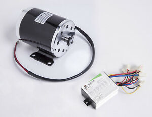 500w 24v Electric Motor 1020 Kit W Base Speed Controller F Scooter Gokart Or Diy