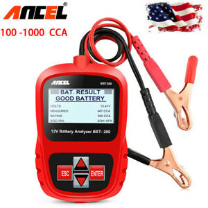 Ancel Bst200 Car 12v Battery Load Tester 1100cca Car Battery Digital Analyzer