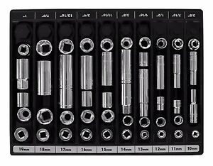 Metric Sae Socket Tool Storage Organizer Tray Wrench Holder Toolbox Chest Rack