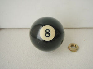 8 Ball Shift Knob Billiard Ball Threaded Gear Shifter Exact Custom Fit
