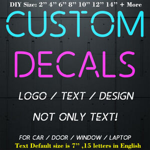 Your Text Vinyl Decal Sticker Car Window Bumper Custom 7 Personalized Lettering
