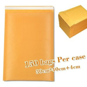 150pcs 30cm 40cm 4cm Kraft Bubble Envelopes Padded Mailers Shipping Self sealing