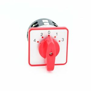 12 Terminals 5 Positions 2 Pole Rotary Selector Cam Changeover Switch Ac 380v 5a