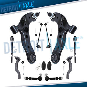 For 2006 2014 For Toyota Rav4 12pc Front Lower Control Arm Sway Bar Link Kit