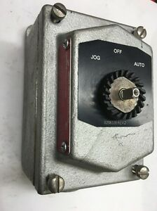 Crouse Hinds Explosion Proof Selector Switch Station Eds21273 Joa Jog Off Auto