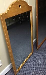 Lot Of Four 4 Large Wood Framed Mirrors From Estate Sale
