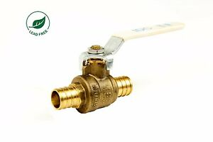 3 4 Pex Brass Shut Off Ball Valve Full Port Psi Non shock Wog Lead Free