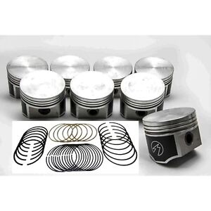 Speed Pro Trw Dodge Plymouth 440 Forged Flat Top 4 Bbl Pistons 8 Moly Rings 30