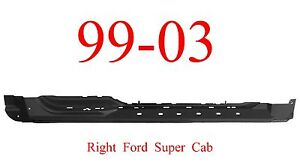 99 03 Ford Right Super Cab Extended Rocker Panel F150 4 Door Truck 1 2mm Thick