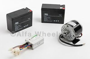 350 W 36 V Electric Motor Kit W 3x Sla Batteries Speed Control F Gokart Razor
