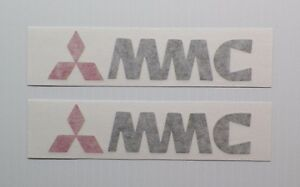 New Classic Mitsubishi Mmc Logo Decal Pair Of 2 Starion Lancer Mirage Turbo