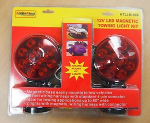 12v Led Magnetic Towing Trailer Light Kit 24 Leds Multi Function Dot