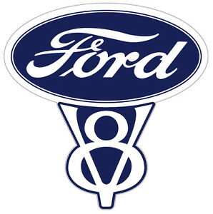 Vintage Ford V8 Decal 5 5 In Size Free Shipping