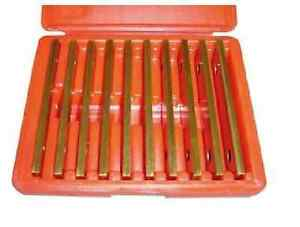 Tin Coated New Precision 10 Pair 1 8 Parallel Set