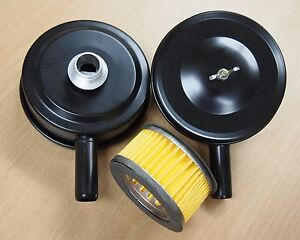 Lot Of 2 Air Compressor Metal 4 Air Filter Silencer 1 2 Mpt Paper Cartridge