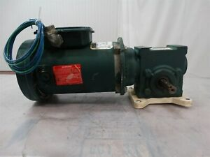 Reliance Electric Motor Tf6s1000a 1 4hp 1750rpm 2 70a 90vdc W dodge Reducer 60 1