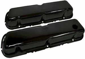 Steel 1986 95 Ford 302 5 0l Fox body Mustang Valve Covers Smooth Black